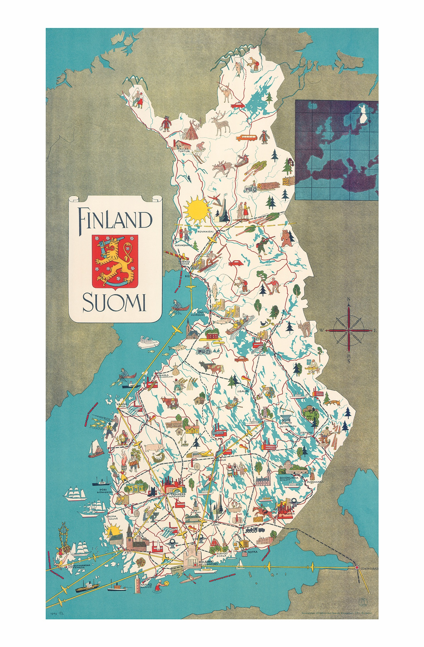 Vaasa Map Finland Wall Maps Of The World Countries For Australia