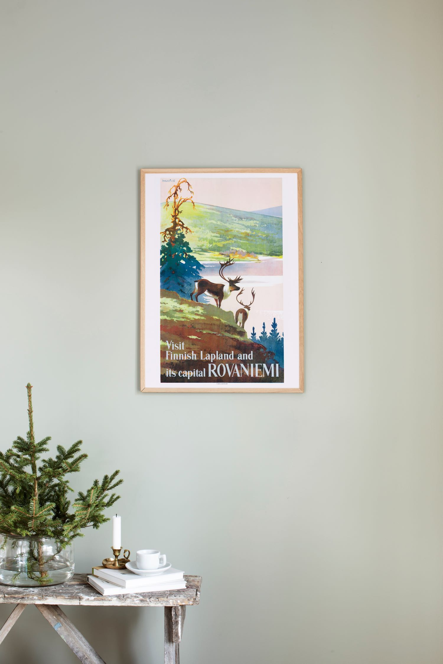 Poster of Rovaniemi, the capital of Lapland