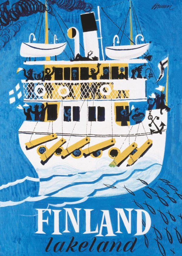 Poster of Finnish Lakeland / Järvi-Suomi / Saimaa