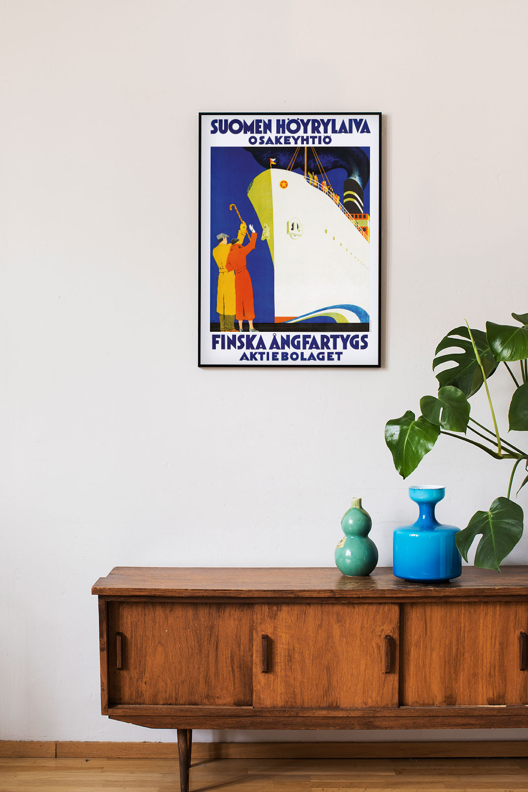 Poster of a Finnish steamship