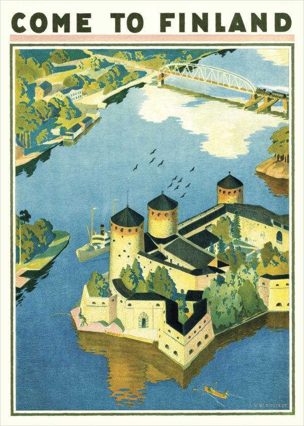 Vintage poster of Olavinlinna
