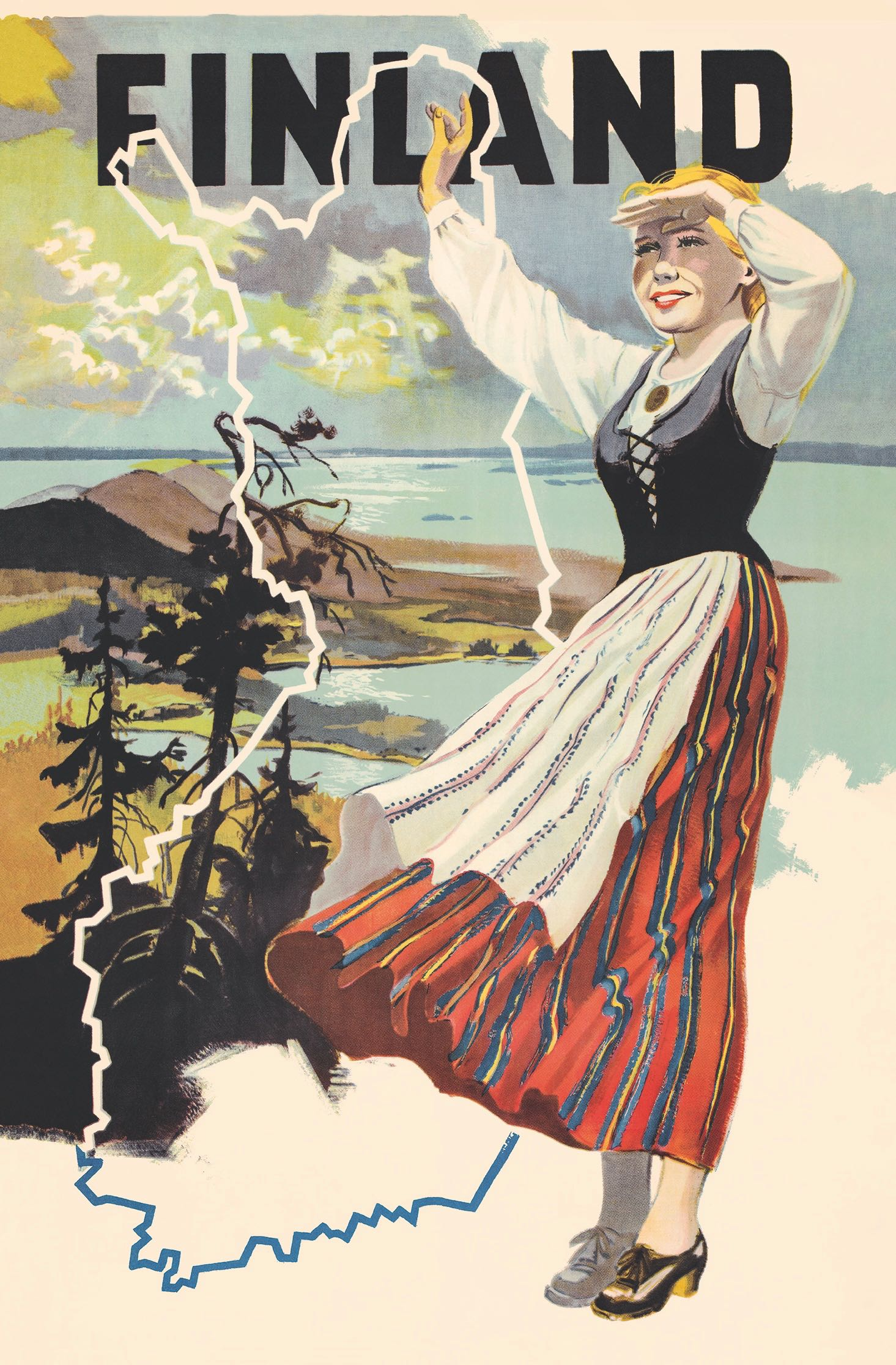 The Maiden Of Finland In Koli Poster 50 X 70 Cm On Demand Print