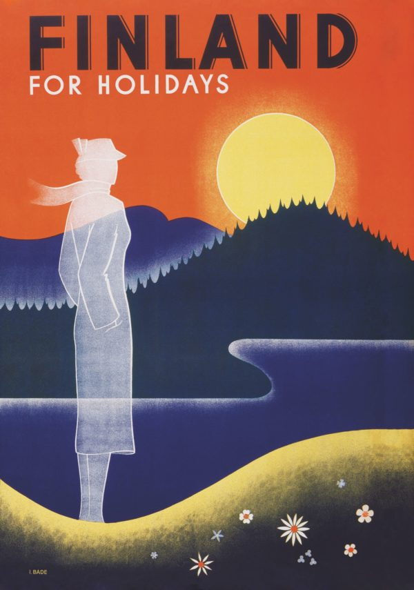 The ghost lady, poster of Finland